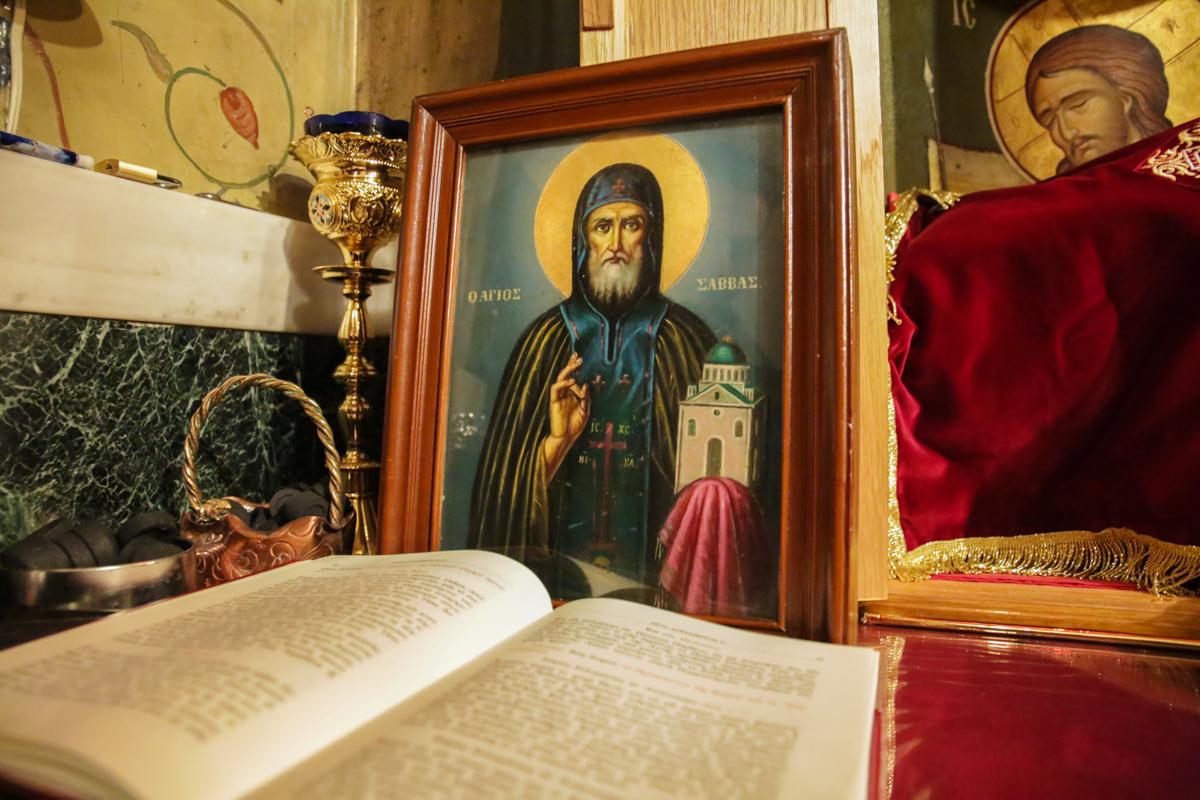 """Αποτέλεσμα εικόνας για άγιος σάββας ο ηγιασμένος"""""""